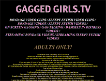 Tablet Preview of gaggedgirls.tv